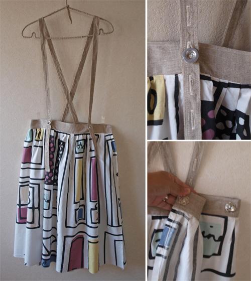スカート:吊りスカート