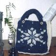 毛糸のかばん 雪の結晶