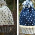 毛糸の帽子 編みこみ